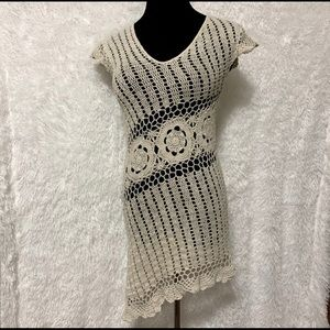 Express White Crochet Bathing Suit Cover Up